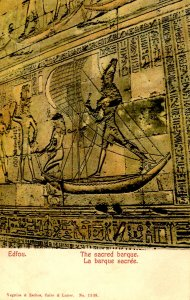 Egypt - Edfou. The Sacred Barque
