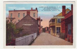 P278 JL 1957 postcard st augustine fl oldest house st george