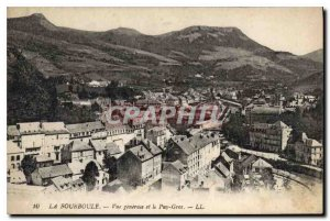 Old Postcard La Bourboule General view and Puy Gros