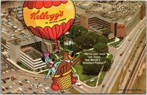 Kellogg's Battle Creek Michigan office Yogi Bear Huckleberry Hound balloon