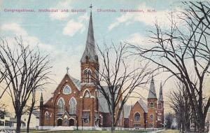 Congregational, Methodist and Baptist Churches, Manchester, New Hampshire, PU...