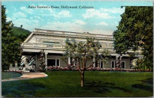1920s Hollywood, CA Postcard Anita Stewart's Home Silent Film Actress Unused