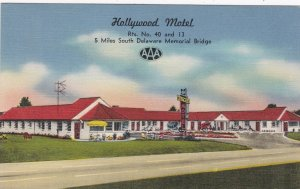 Delaware New Castle Hollyood Motel 1955 sk5491