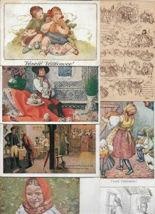 Czech Republic - Folklore Costumes Traditional Clothing Postcard Lot of 20 01.02