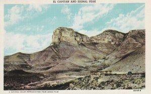 Between NEW MEXICO & TEXAS View From Highway 62, El Capitan & Signal Peak, 30-40