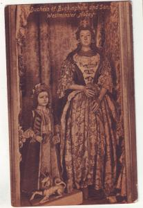 P715 old card duchess of buckingham palace & son westminster abbey great britain
