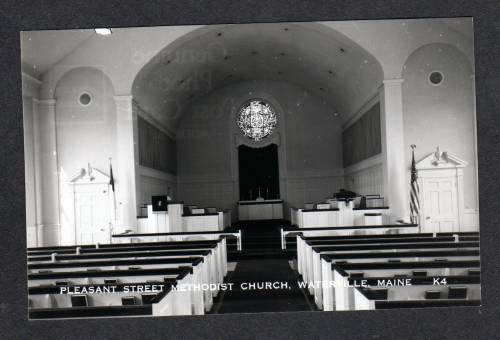 ME Methodist Church Pleasant St WATERVILLE MAINE RPPC RP Real Photo Postcard PC