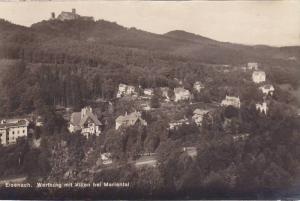 RP, Aerial View, Wartburg Mit Villen Bei Mariental, Eisenach (Thuringia), Ger...
