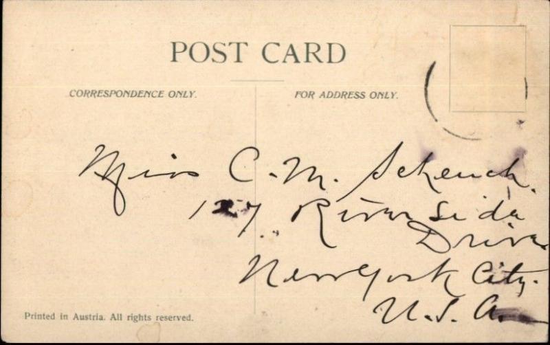 Melbourne Australia Gt. Collins St. in 1850s - c1910 Postcard jrf