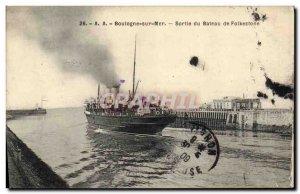 Old Postcard Boat Boulogne Folkestone Boat Out