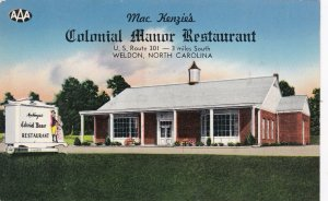 North Carolina Weldon Mac Kenzie's Colonial Manor Restaurant sk4684