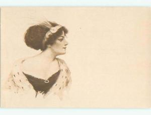 Divided-Back PRETTY WOMAN Risque Interest Postcard AA7957