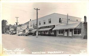 Kingston N.S. Storefronts Stedman 5¢ to 1.00 Stores Esso Gas RPPC Postcard