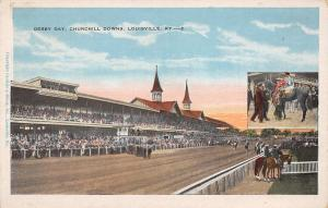 Louisville Kentucky~Churchill Downs Race Track~Derby Day~Winner Inset~1920s PC