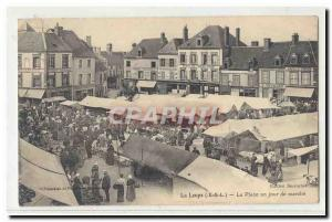 La Loupe (Eure et Loire) Old Postcard Place a walking day