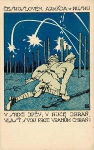 Ceskosloven Armáda v Rusku World War II Czech Soldiers Propaganda BS.01
