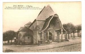 L'Eglise, Le Porche A Colonnettes De Pierre Est Du XVIII Siecle, Avon (Seine ...