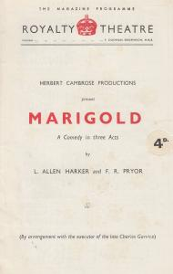 Marigold Comedy Jean Clyde Royalty London Theatre Programme