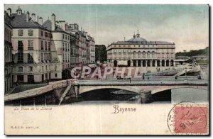 Old Postcard Place de la Liberte Bayonne
