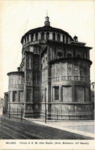 CPA Milano Chiesa di S.M.delle Grazie . ITALY (541788)