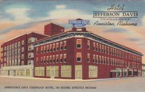 Alabama Anniston Hotel Jefferson Davis 2822Curteich sk