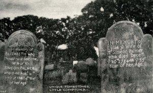 RI - Little Compton. Unique Tombstones