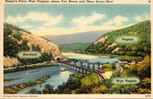 West Virginia Harpers Ferry Where Two Rivers and Three States Meet
