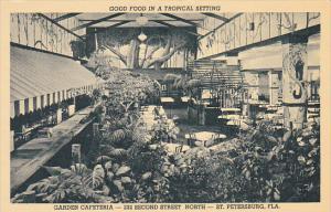 Interior Garden Cafeteria St Petersburg Florida Curteich