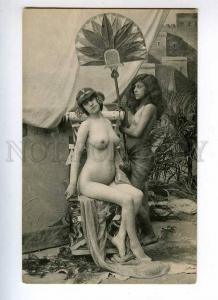 227084 ART NOUVEAU Nude girls in HAREM Vintage postcard