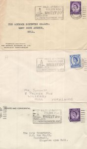 Miles Of Curving Sand Whitley Bay 3x Slogan Postmark s
