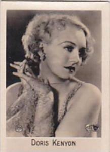 Orami Cigarette Card Film Favourites Series C No 227 Doris Kenyon