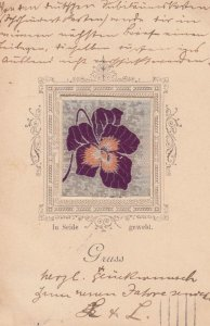 Purple Silk Flower , Germany, 1899