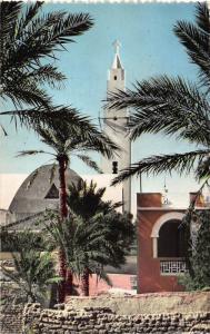 Algeria Colomb Bechar L'Eglise Vue de la Palmeraie Church Postcard