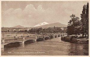 Lot 61 switzerland geneve geneva pont du mont blanc et isle rousseau
