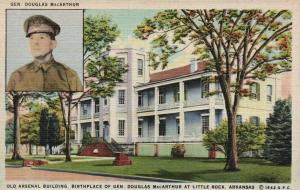 Little Rock, AR, Old Arsenal Building, Gen. MacArthur Birthplace, Postcard f9722