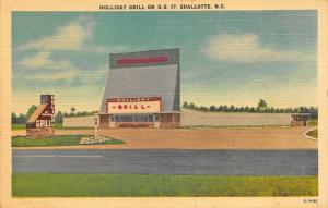 Shallotte NC Holiday Grill Drive-In Theatre  on US 17 Postcard