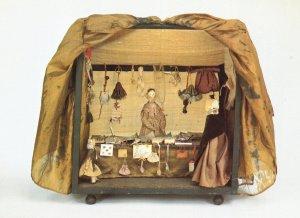 Victorian Dolls Bazaar Market Bethal Green Museum Postcard