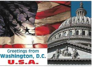 Greetings from Washington DC USA Capitol Postcard PCBT12H-62221
