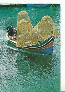 Malta Postcard - The Luzzu - Maltese Fishing Boat - Ref TZ1523