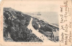 BR79101 folkestone the lower way and victoria pier   uk