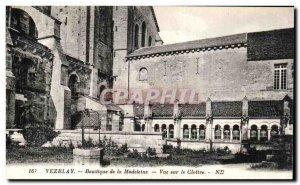 Old Postcard Vezelay Basilica Madeleine Overlooking the Cloitre