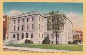 North Carolina Winston Salem Forsyth County Court House