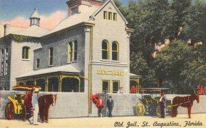 Old Jail, St. Augustine, Florida c1940s Linen Vintage Postcard