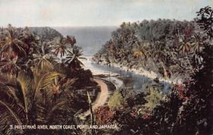 Priestman's River, North Coast, Portland, Jamaica , Early Postcard, Unused