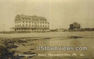 Real Photo, Narragansett House Kennebunk Beach ME Unused