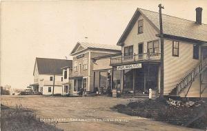 Sherman Station ME Gas Pump Opera House General Store RPPC Postcard