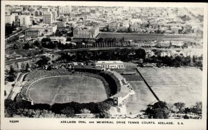 ADELAIDE AUSTRALIA Oval & Tennis Courts REAL PHOTO Old Postcard