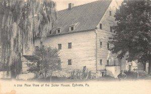 LPS11 Ephrata Pennsylvania Rear View of the Sister House Postcard