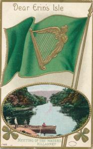 St Patrick's Day Greetings Meeting of Waters Killarney Ireland - Julius Bien DB