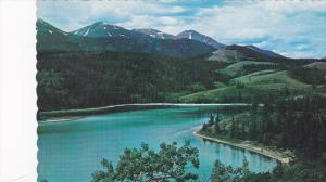 Scenic view,  Rainbow Lake on the Whitehorse-Carcross Road in Yukon,   Canada...